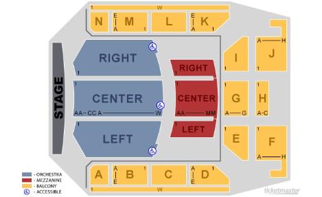 Auditorium Static Seating Map 2