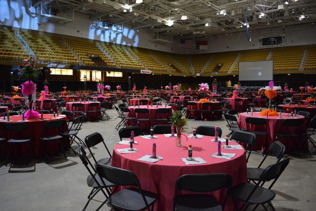 Arena Benefit Dinner setup