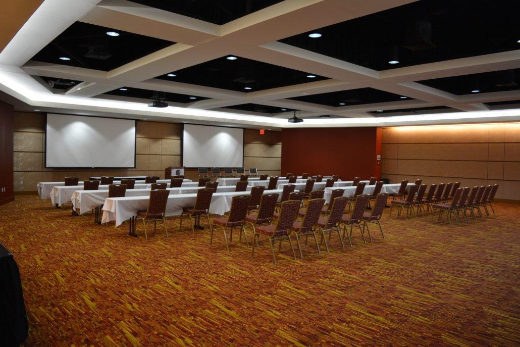 Banquet Hall classroom setup