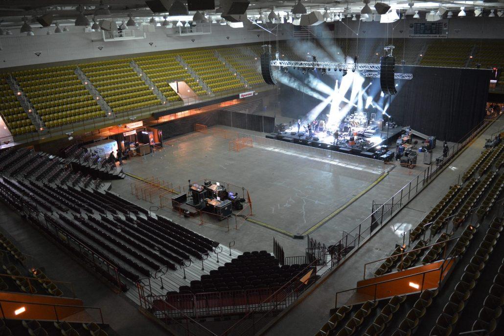 Arena Half-House Concert setup