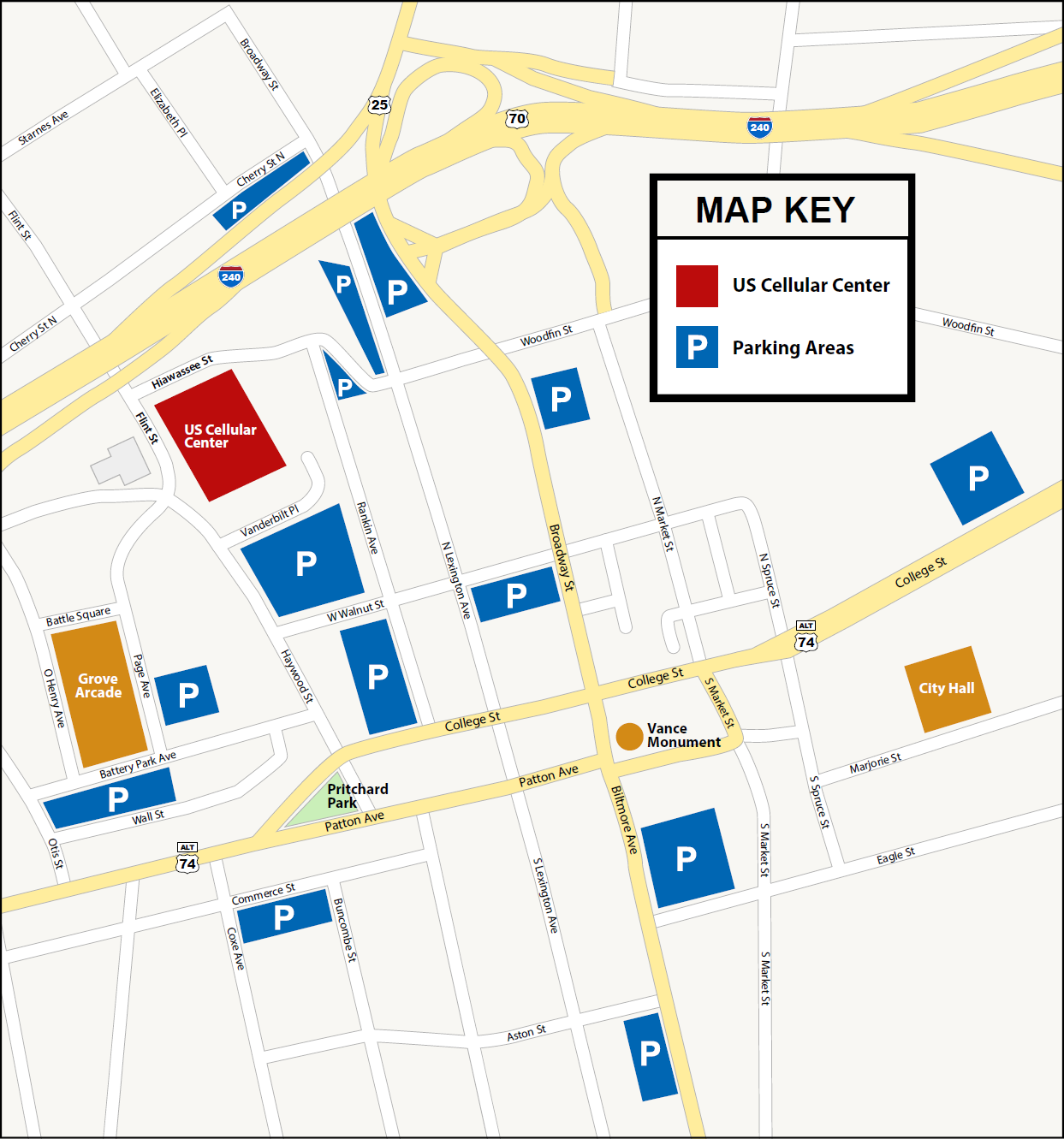 Downtown Asheville Parking Map 2018
