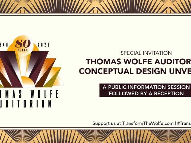 Thomas Wolfe Auditorium Conceptual Design Unveiling