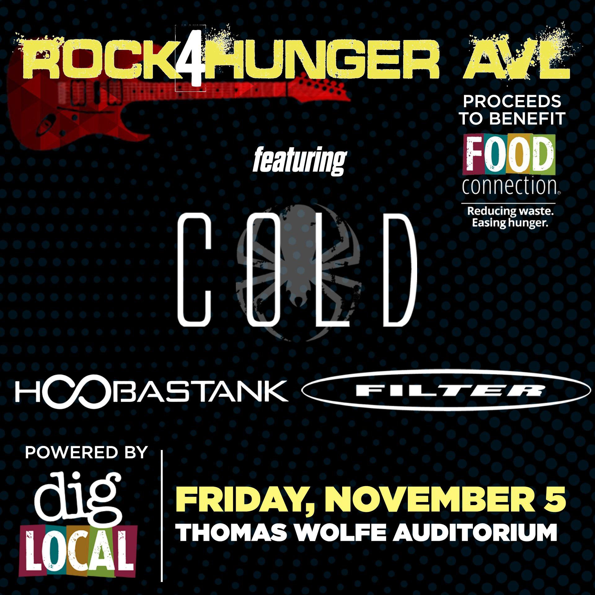 Rock4Hunger AVL: Cold, Hoobastank, & Filter
